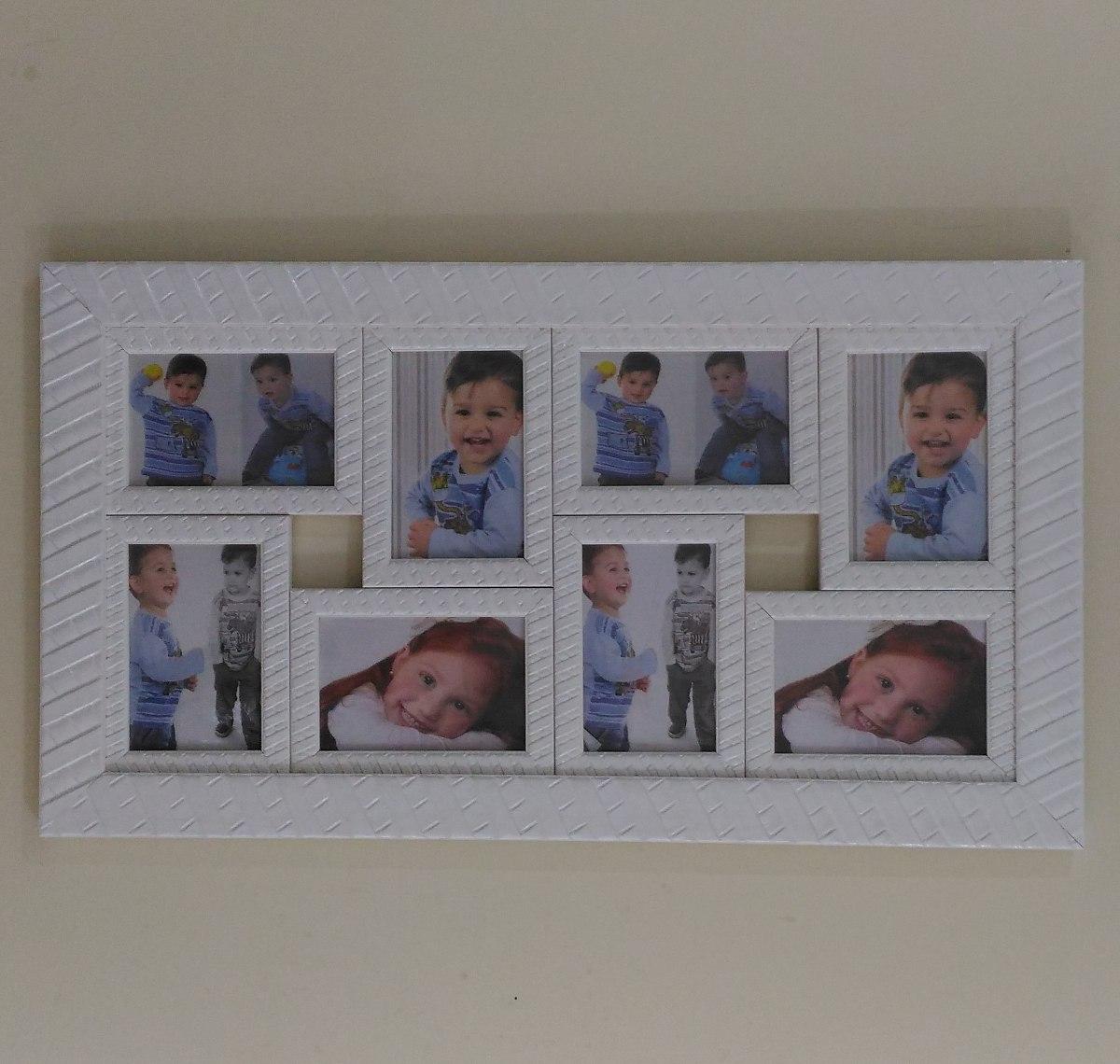Quadro Fotos Branco Porta Retrato Painel Quarto Casal Sala R 89  ~ Decoração De Quarto Artesanal E Quarto Casal E Bebe Junto