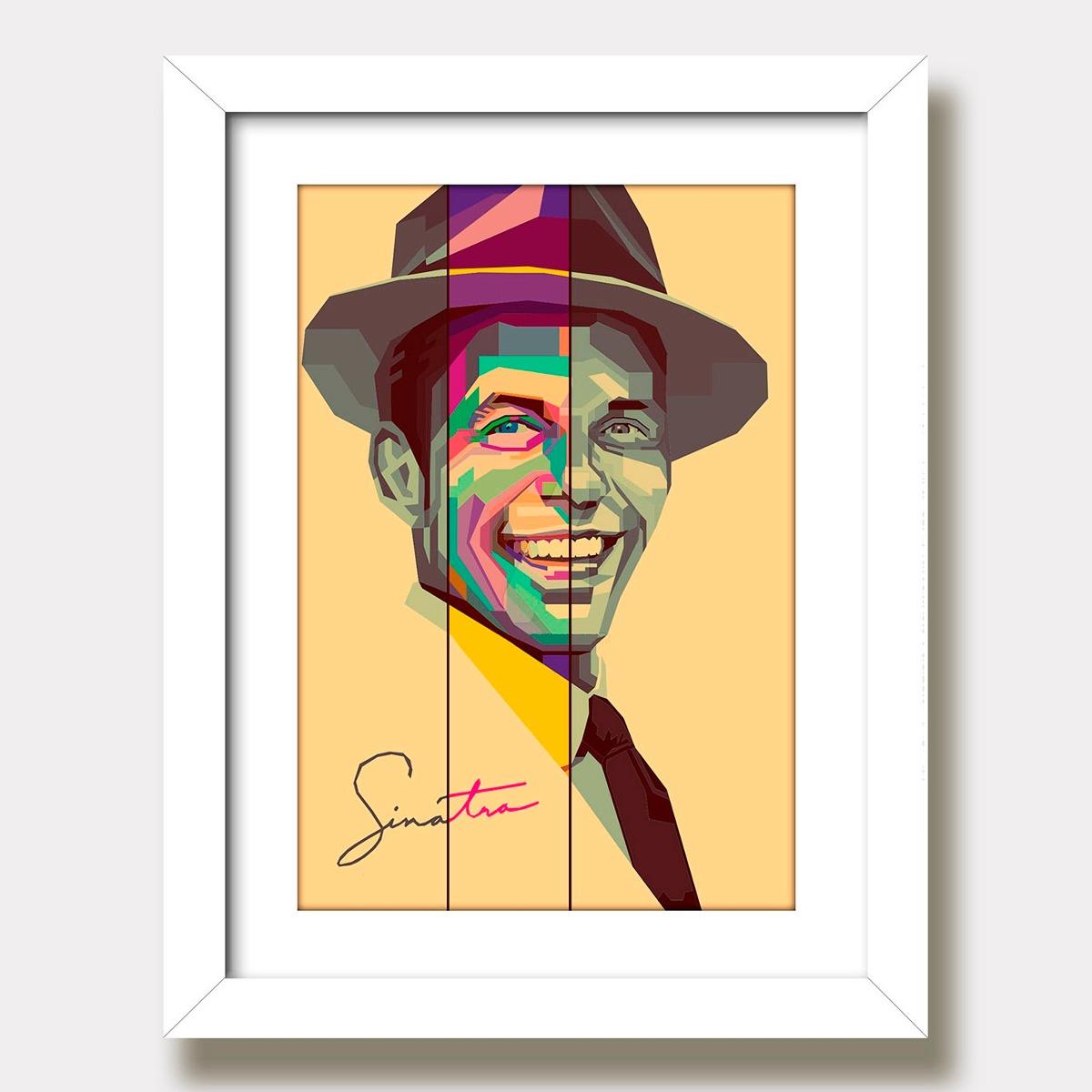 ca8c38cf1071d Quadro Frank Sinatra Musica Jazz Decorativo Pop Art Paspa Kp - R  135