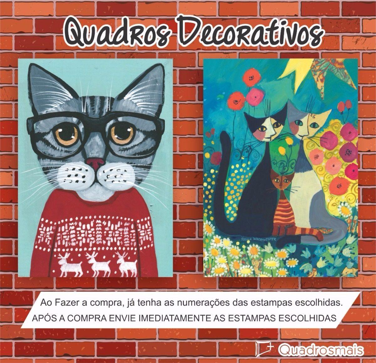 quadro gato óculos pet animal cat felinos decorativo 30x22cm. Carregando  zoom. 7fe08b4c8d
