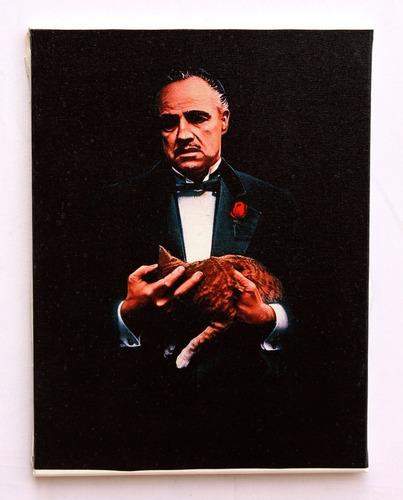 quadro godfather impressão em tela de pintura 30x40