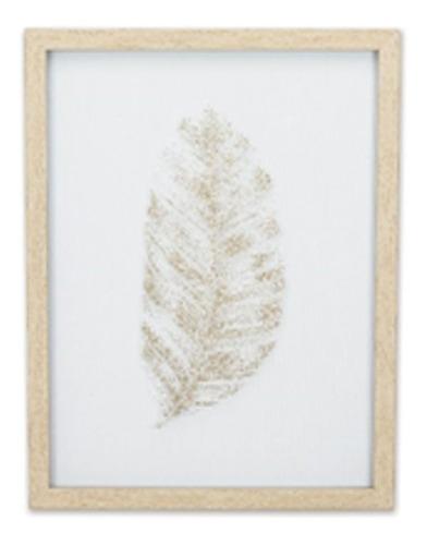 quadro gold pena 42,5 cm x 32,5 cm