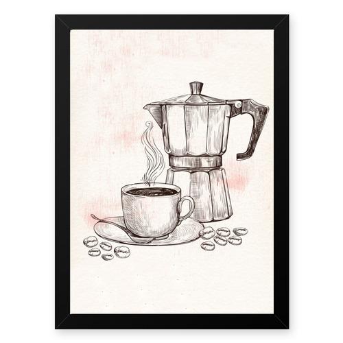 quadro graos cafe maquina 23x33 cm
