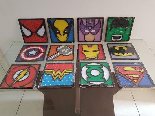 quadro herois homem de ferro 3d - marvel decoração nerd