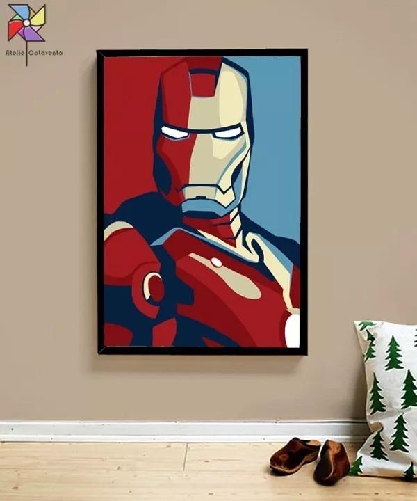 bc35a4986b Quadro Homem De Ferro - Iron Man - Minimalista - Tamanho A2 - R  190 ...