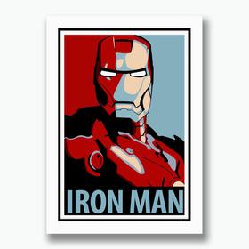 Quadro Iron Man 50x35cm Poster Homem Ferro Pop Art Filme Tv
