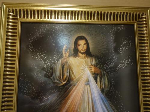 quadro - jesus misericordioso - 60 x 44cm.