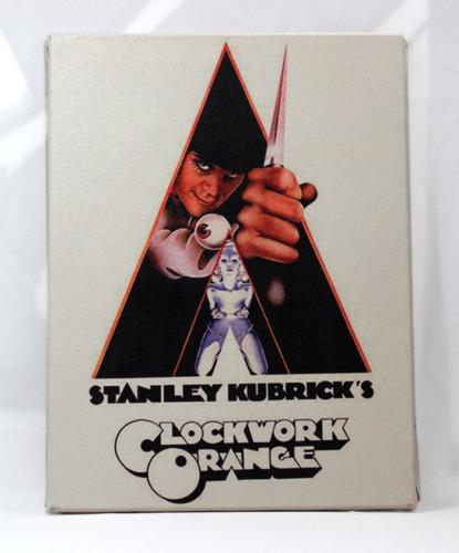 quadro laranja mecânica stanley  kubrick  em tela de pintura