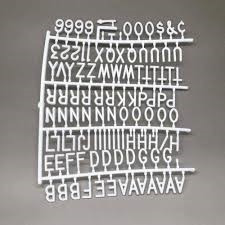quadro letreiro mural aviso 170 peças recado letter board