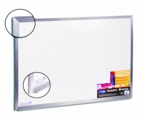 quadro lousa branco recados avisos aluminio 40x30cm cortiart