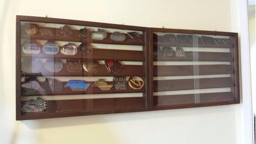 quadro madeira porta medalhas (até100) tabaco frete grátis