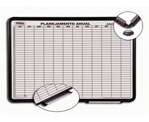 quadro magnetico planejamento anual aluminio 120x90 cortiart