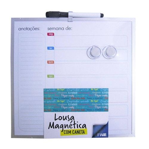 quadro magnetico planejamento da semana agenda organizador i