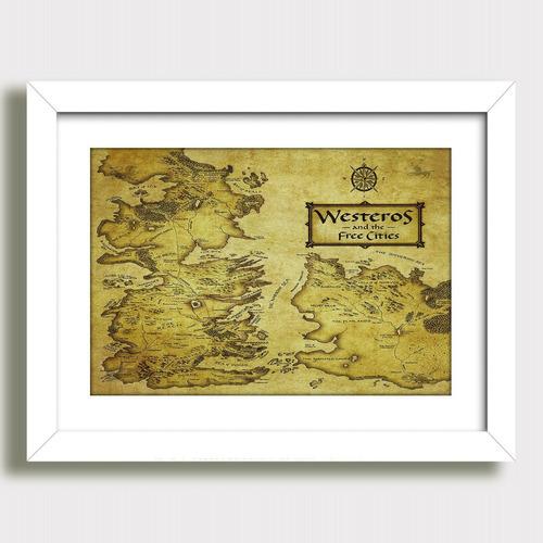 quadro mapa cidades livres game of thrones serie tv paspatur