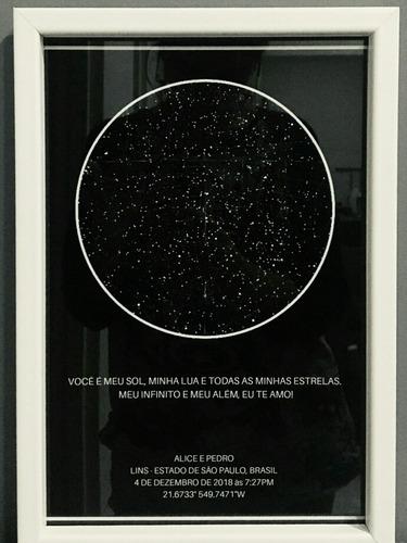 quadro mapa das estrelas