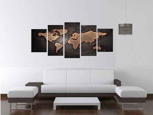 quadro mapa mundi 150cm x 70cm luxo sala escritório corredor