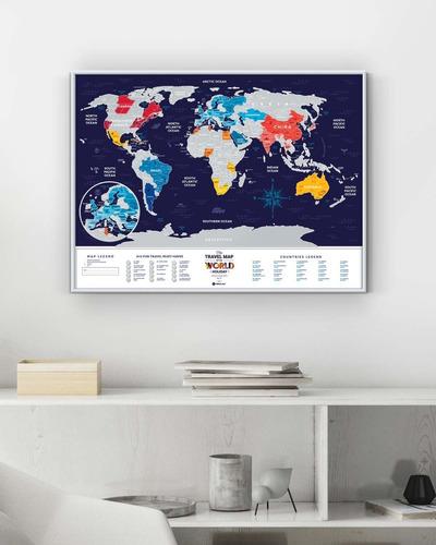 quadro mapa mundi e mapa do brasil - mapa de raspadinha