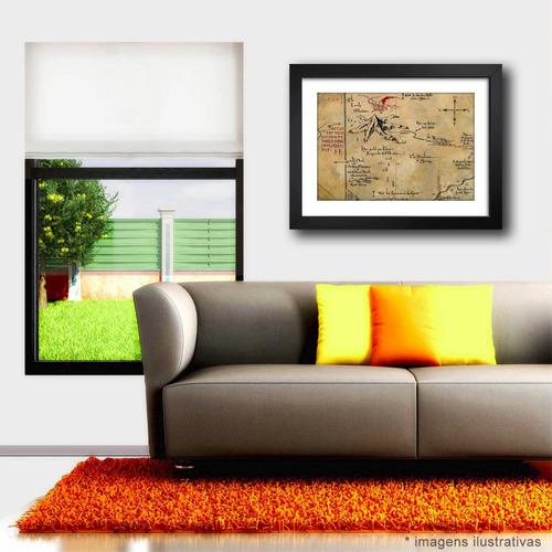 quadro mapa thorin hobbit senhor aneis filme decoracao sala