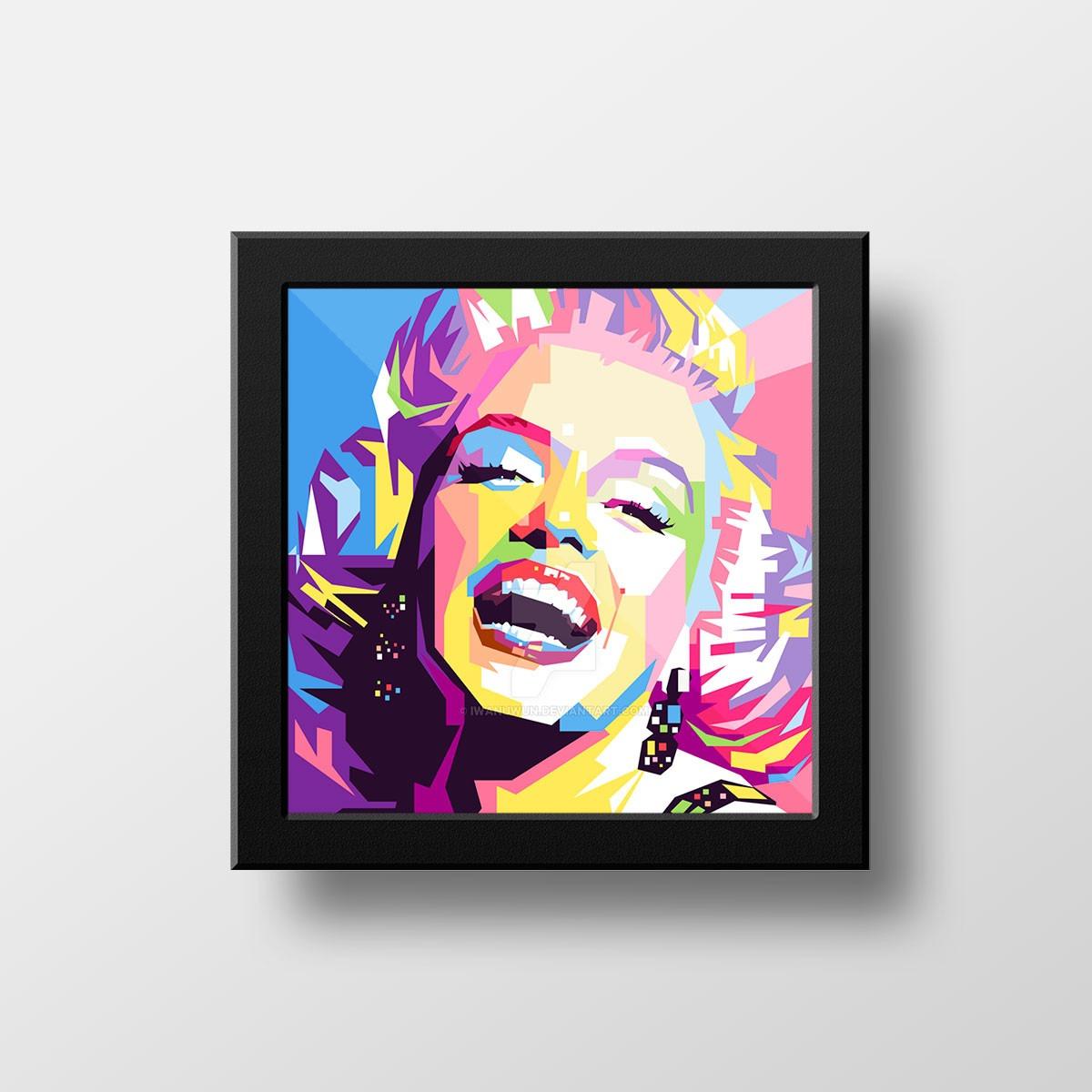 Quadro Marilyn Monroe Popart Decoração Retro Salão De Belez - R ...
