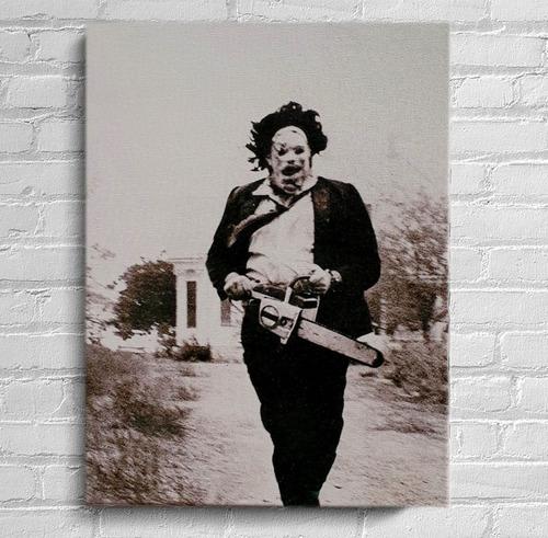 quadro massacre da serra elétrica  impressão em tela de pintura 30x40cm