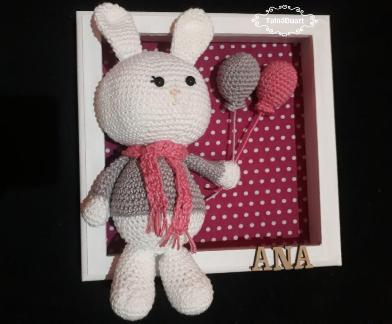 Enfeite Porta de Maternidade - Amigurumi no Elo7 | Lolo Bunny (E08C5B) | 941x1142
