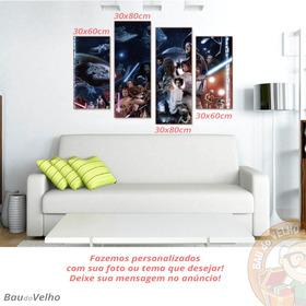 Quadro Mdf Star Wars 3mm Personalizados Frete Gratis