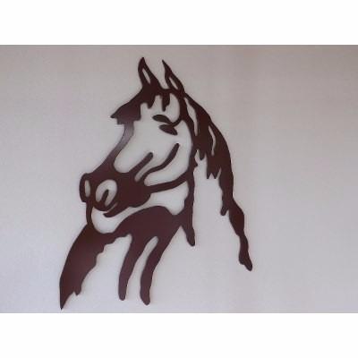 quadro  mdf vazado cavalo