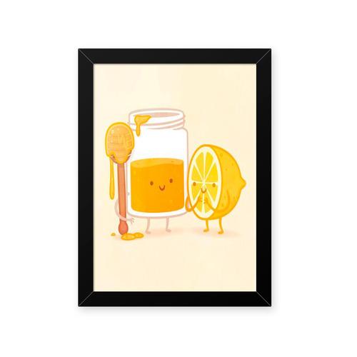 quadro mel limao 23x33cm
