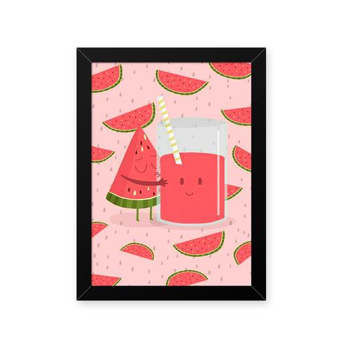 quadro melancia carinhosa 23x33cm