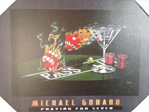 quadro michael godard phaying for seven 50x35cm cocktail