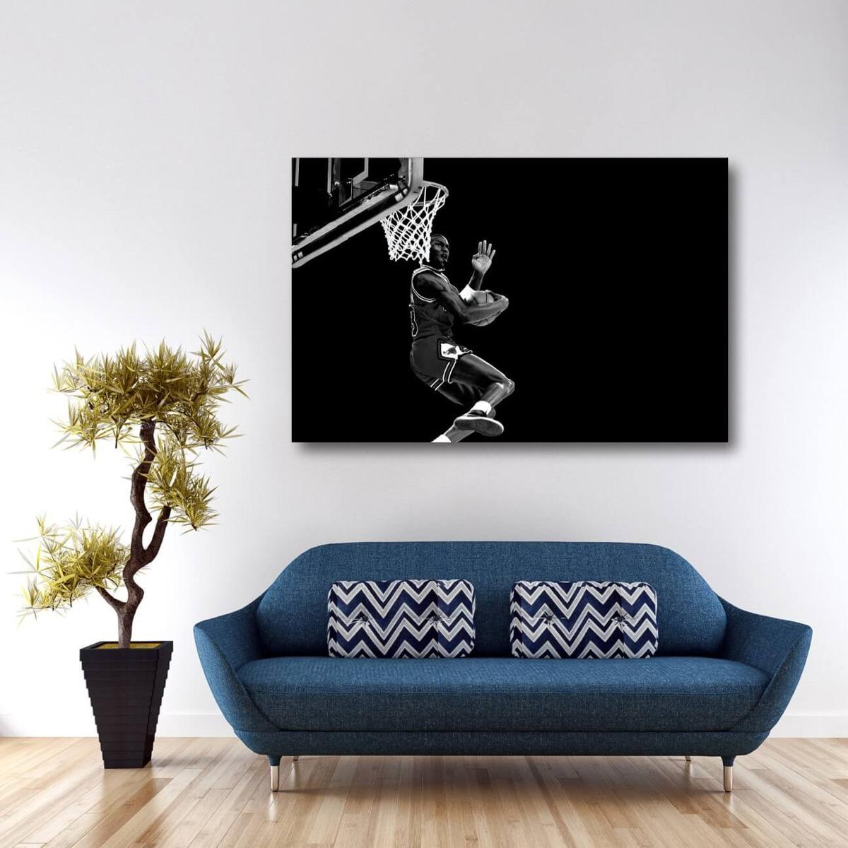 4b350010659 quadro michael jordan basquete decorativo - tela em tecido. Carregando zoom.
