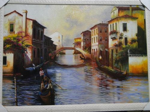 quadro moldura  veneza gondola italia