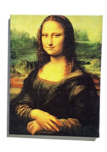 quadro monalisa impresso em tela de pintura 30x40 cm