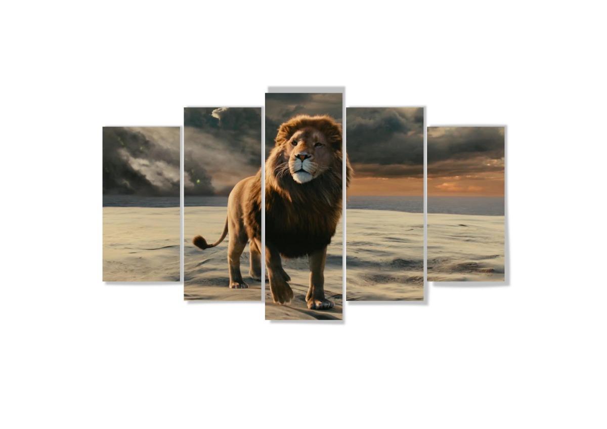 Quadro mosaico peças mdf mm cm leão de judá lion r