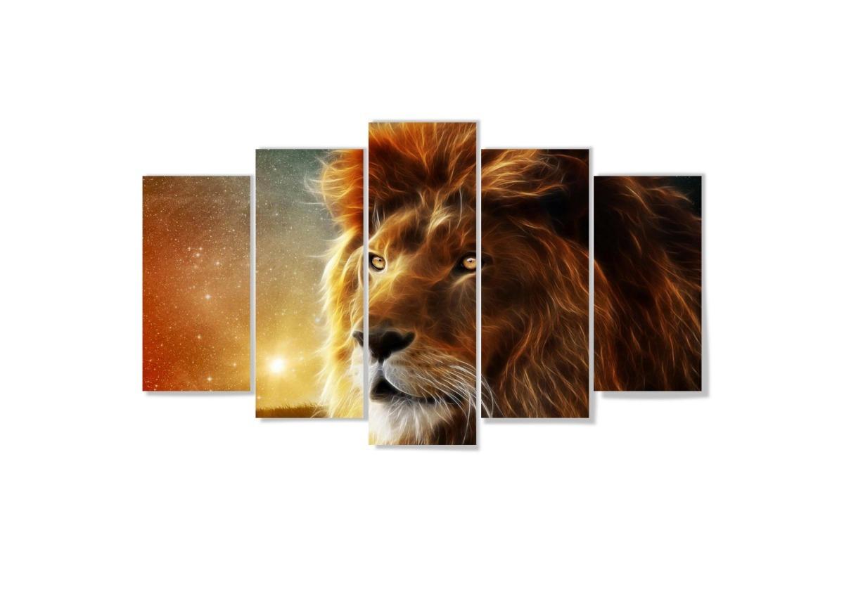 Quadro mosaico peças mdf mm cm leão lion r em
