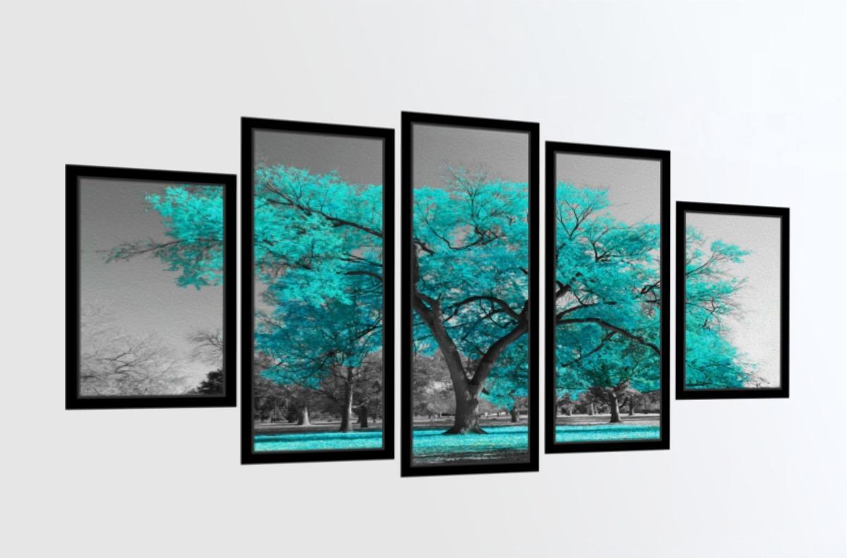 f984ffbfaa384 quadro mosaico árvore da vida azul turquesa com moldura lisa. Carregando  zoom.