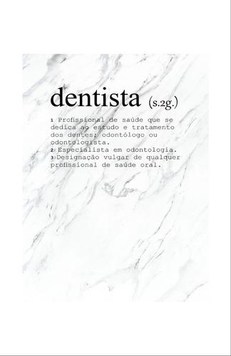 quadro mosaico decorativo consultório odontologista dentes