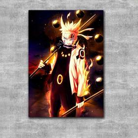 Quadro Naruto Modo Sábio 6 Caminhos - Placa Mdf Promoção