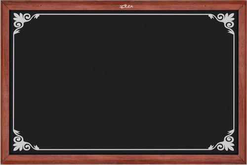 quadro negro moldura mogno 070x050cm moldura desenho 2 un