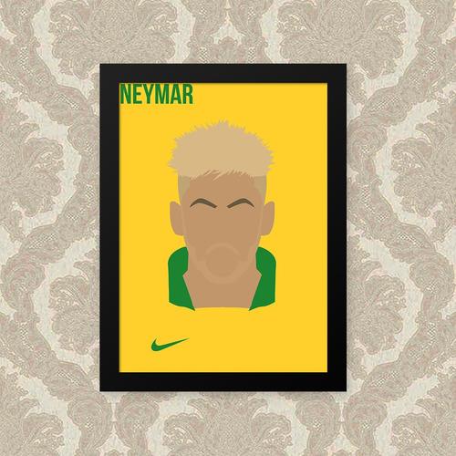 quadro neymar 23x33cm