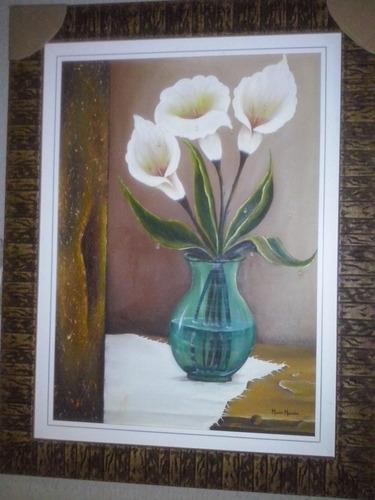 quadro o vaso tela pintada a mão 90x70 (óleo sobre tela)