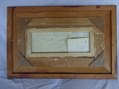 quadro óleo sobre tela - n. castro, 60x40cm c. moldura, 1988