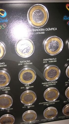 quadro olimpíadas porta 17 moedas . pronta entrega.