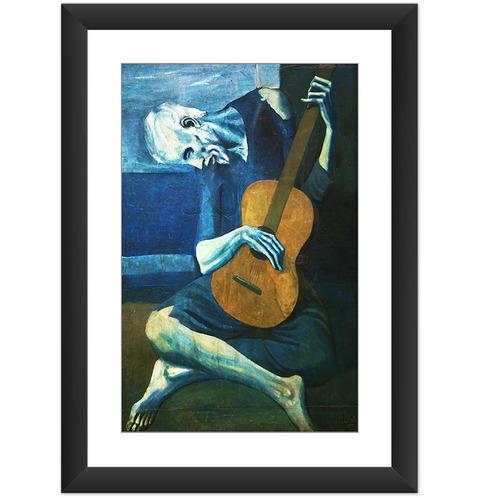 quadro pablo picasso velho guitarrista cego arte cult 45x60.