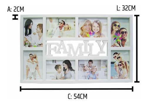 quadro painel 8 fotos 10x15 porta retrato decorativo sala