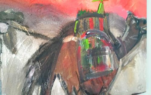 quadro painel abstrato  beduino no deserto .