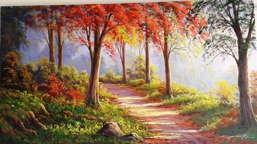quadro paisagem (caminho da serra)