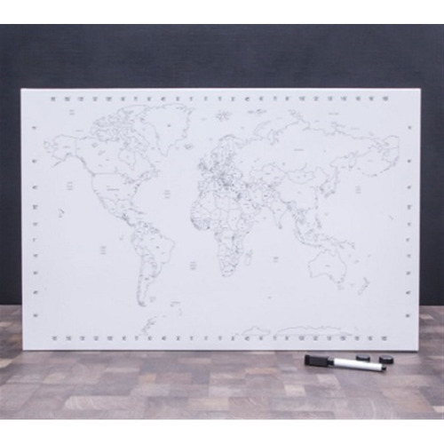 quadro paises do mundo magnetico mapa mundi pintar educativo
