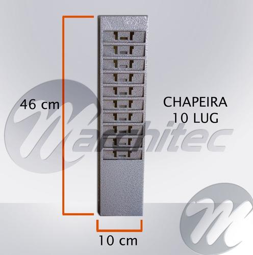quadro para cartões de ponto 10 lug - porta cartões chapeira