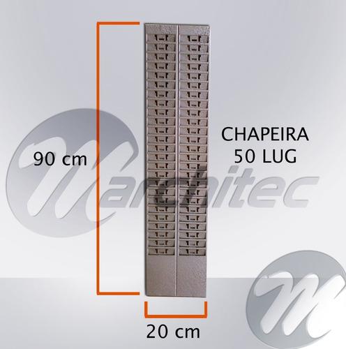 quadro para cartões de ponto 50 lug - porta cartões chapeira