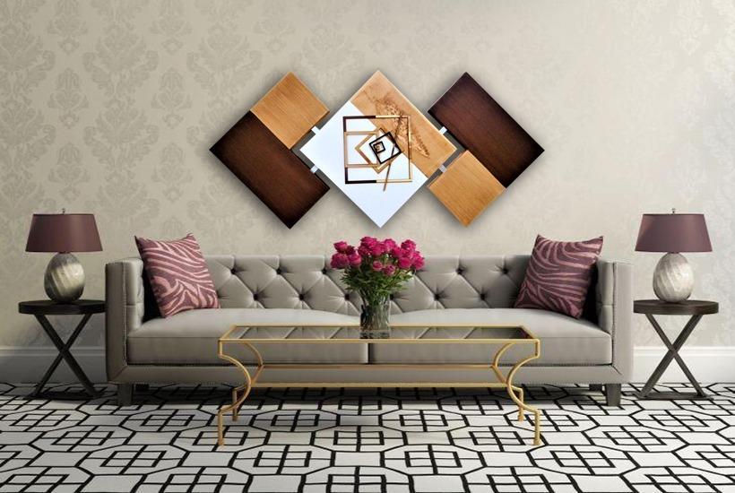 2d4d63f7f quadro para sala abstrato marrom 60x120 cm - novidade. Carregando zoom.
